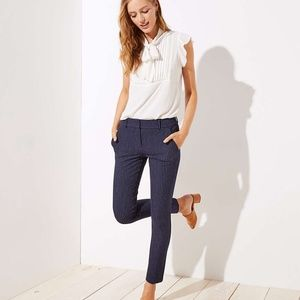 NWT LOFT Petite Pinstripe Skinny Pants- Marisa Fit